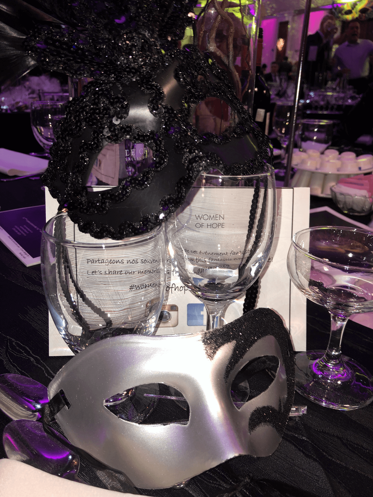 Laura Canada - Venitian Masks and Glasses - Women of Hope Gala